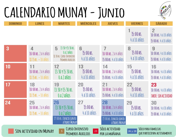 Actividades 6.JUNIO - CALENDARIO COMPLETO